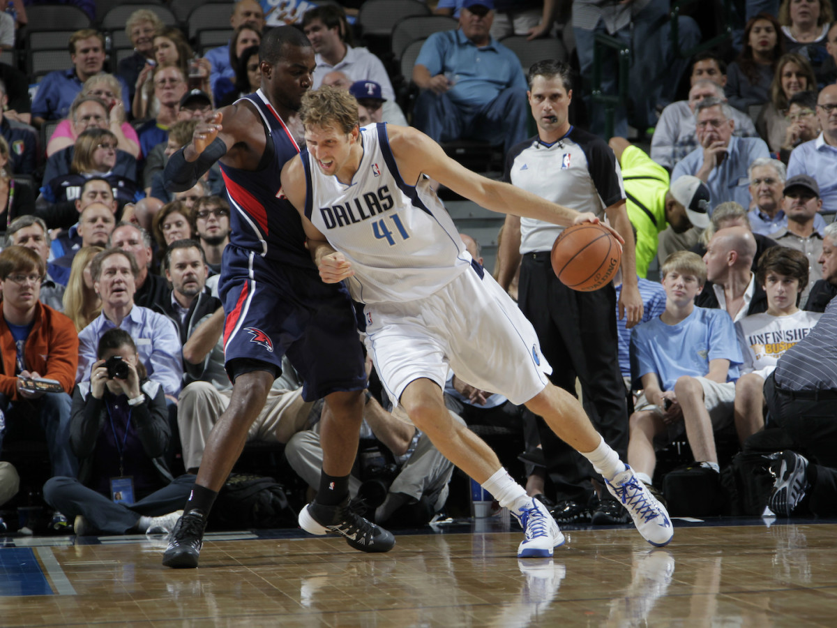 Dirk Nowitzki of the Dallas Mavericks