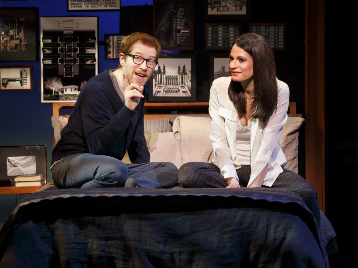 Anthony Rapp and Jackie Burns in If/Then