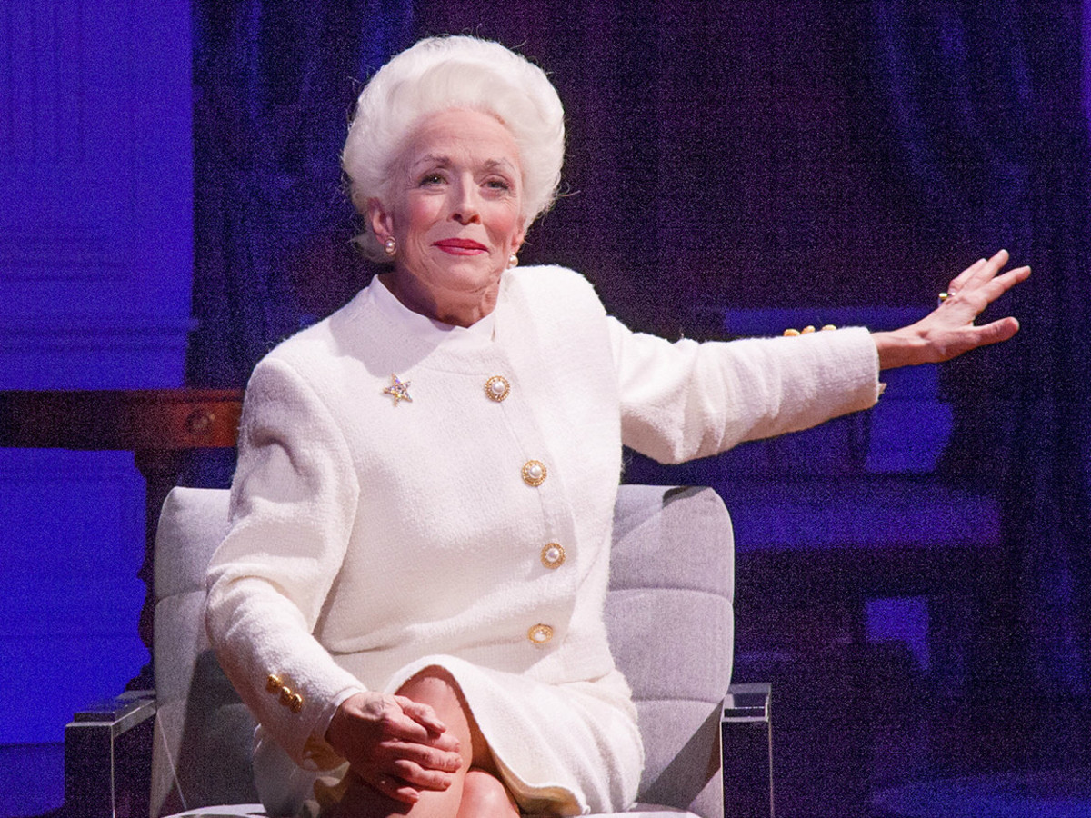 Holland Taylor as former governor Ann Richards in the Broadway play Ann.