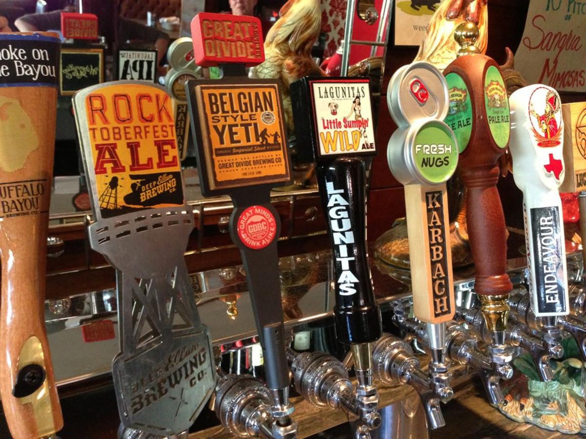 BRC American Gastropub, bar, beer spouts