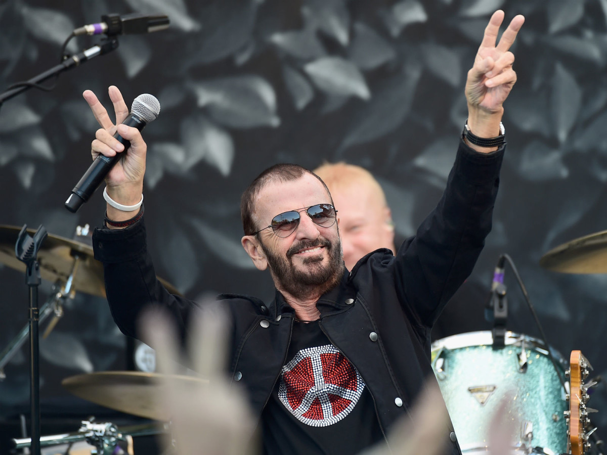 Ringo Starr at the International Peace Day celebration at John Varvatos store in California