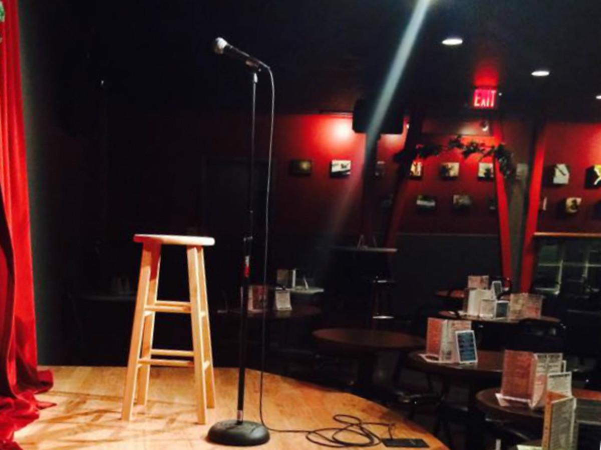 Cap City Comedy Club_stage_mic_2014