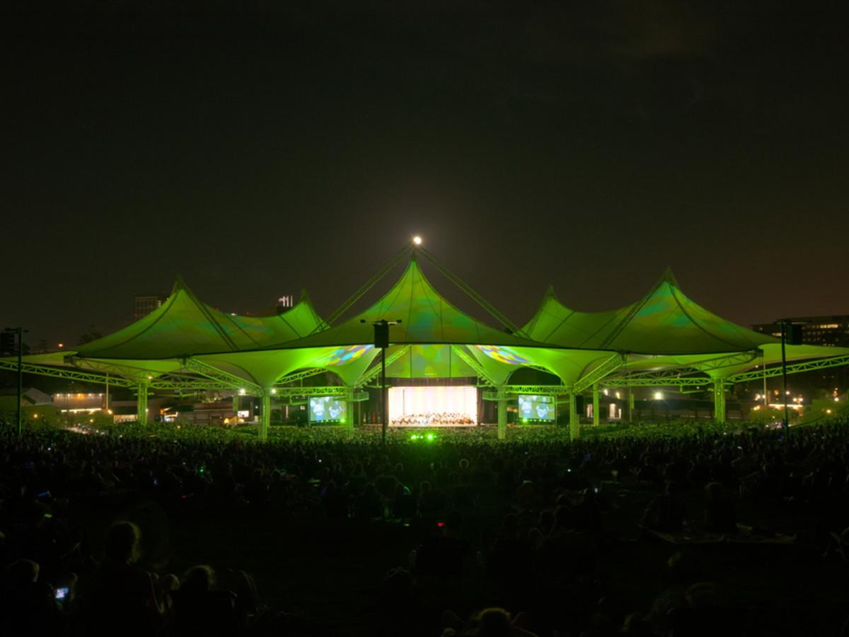 Cynthia Woods Mitchell Pavilion, evening, concert, Houston Symphony