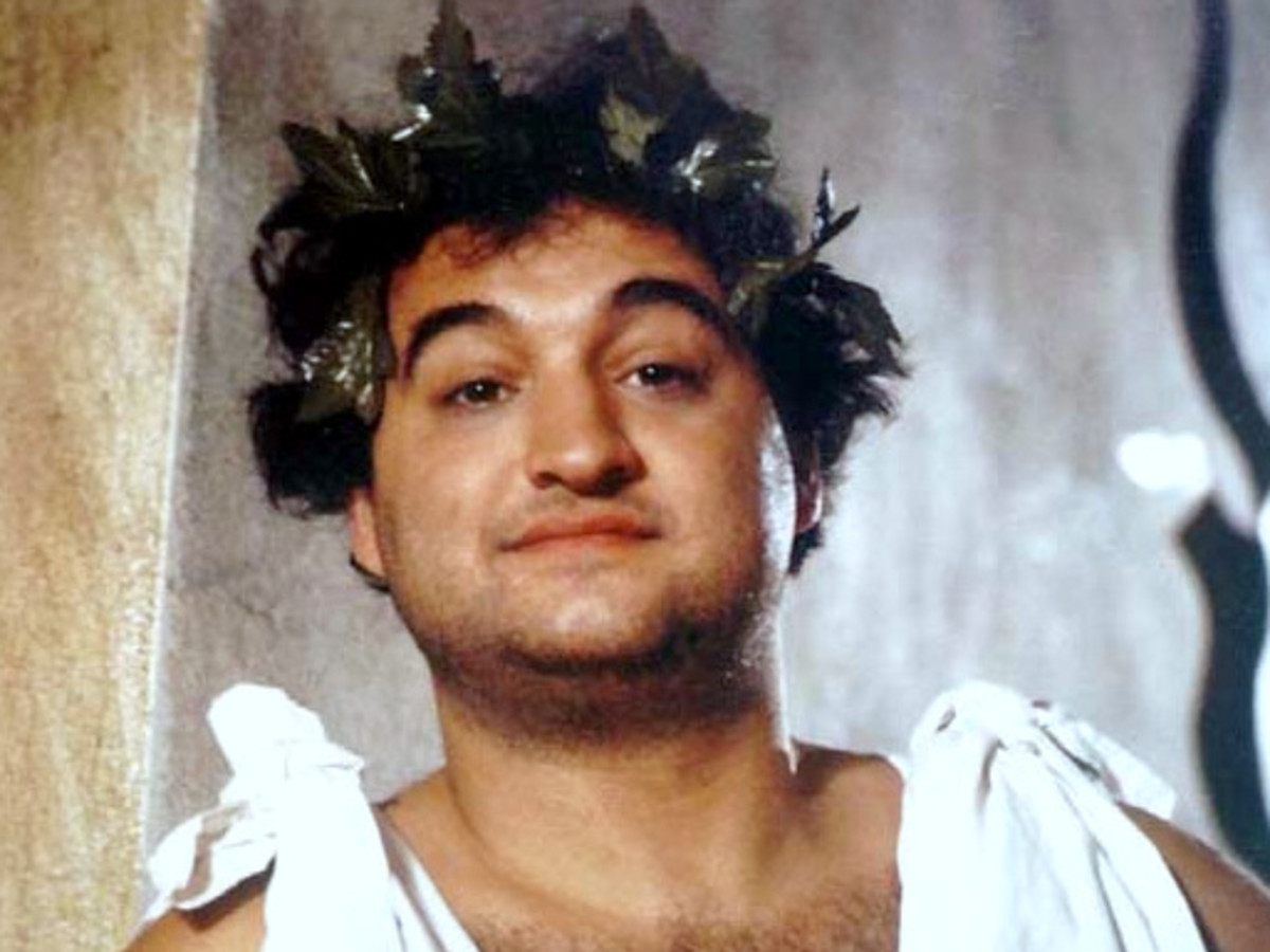 John Belushi in toga in Animal House