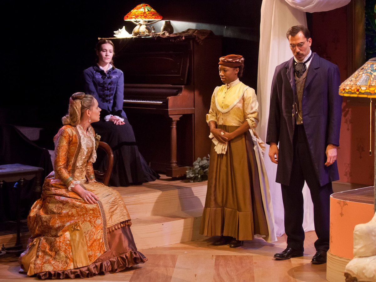 News_Nancy_threshold_Courtney D. Jones_Tracie Thomason_Kristin Warren_Courtney D. Jones_David Matranga in Sarah Ruhl's  In The Next Room Or The Vibrator Play_at Stages Repertory Theatre