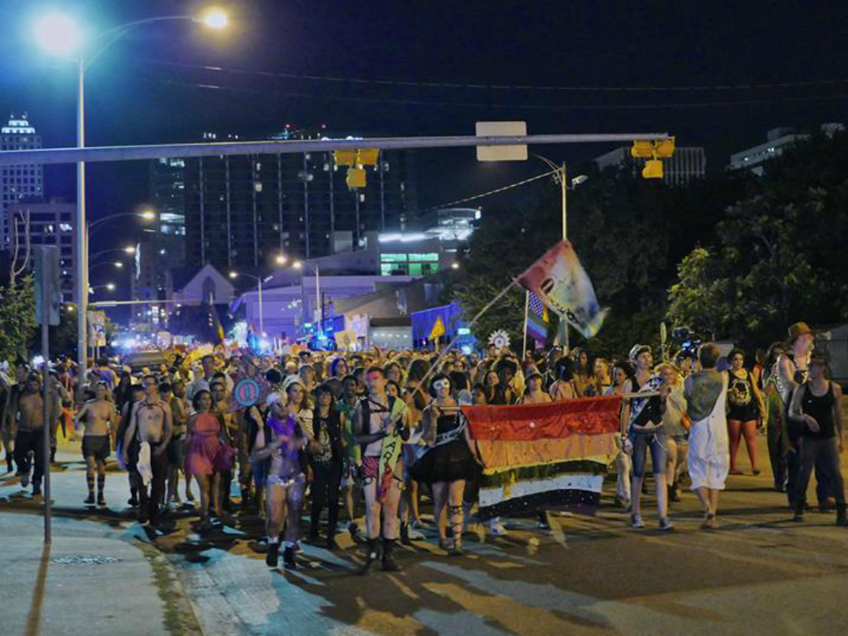 QueerBomb_Austin_LGBT pride parade_Pine Street Station_2014