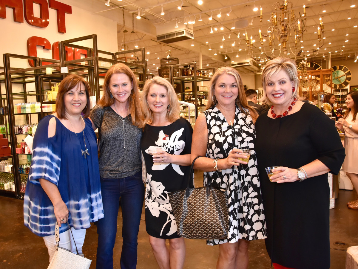 Leann Newton, Paula Goodhart, Karen Miller, Cindy Cook, Julie Haralson at Shop With Heart Card Kickoff