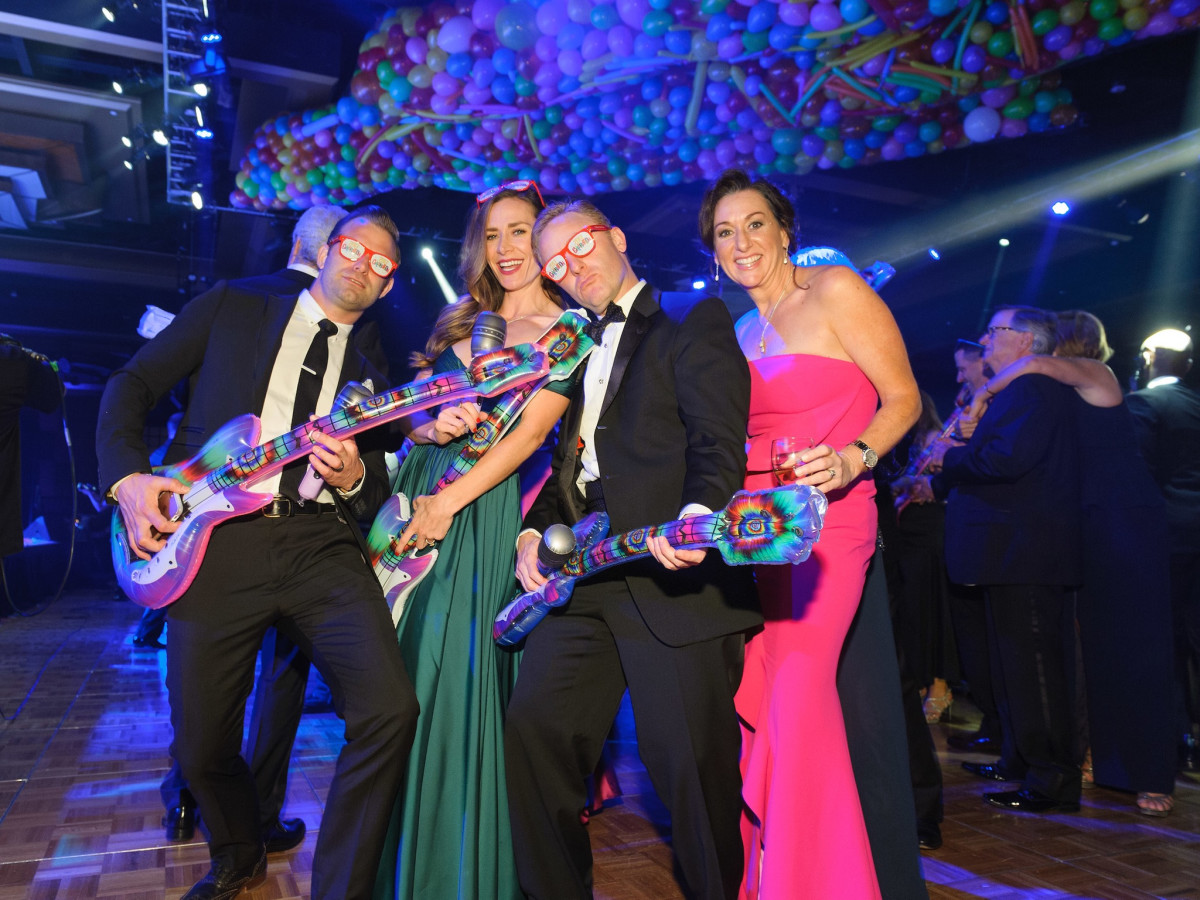 Shawn and Racheal Gottschalk, Brian and Amalia Stanton at Memorial Hermann Gala