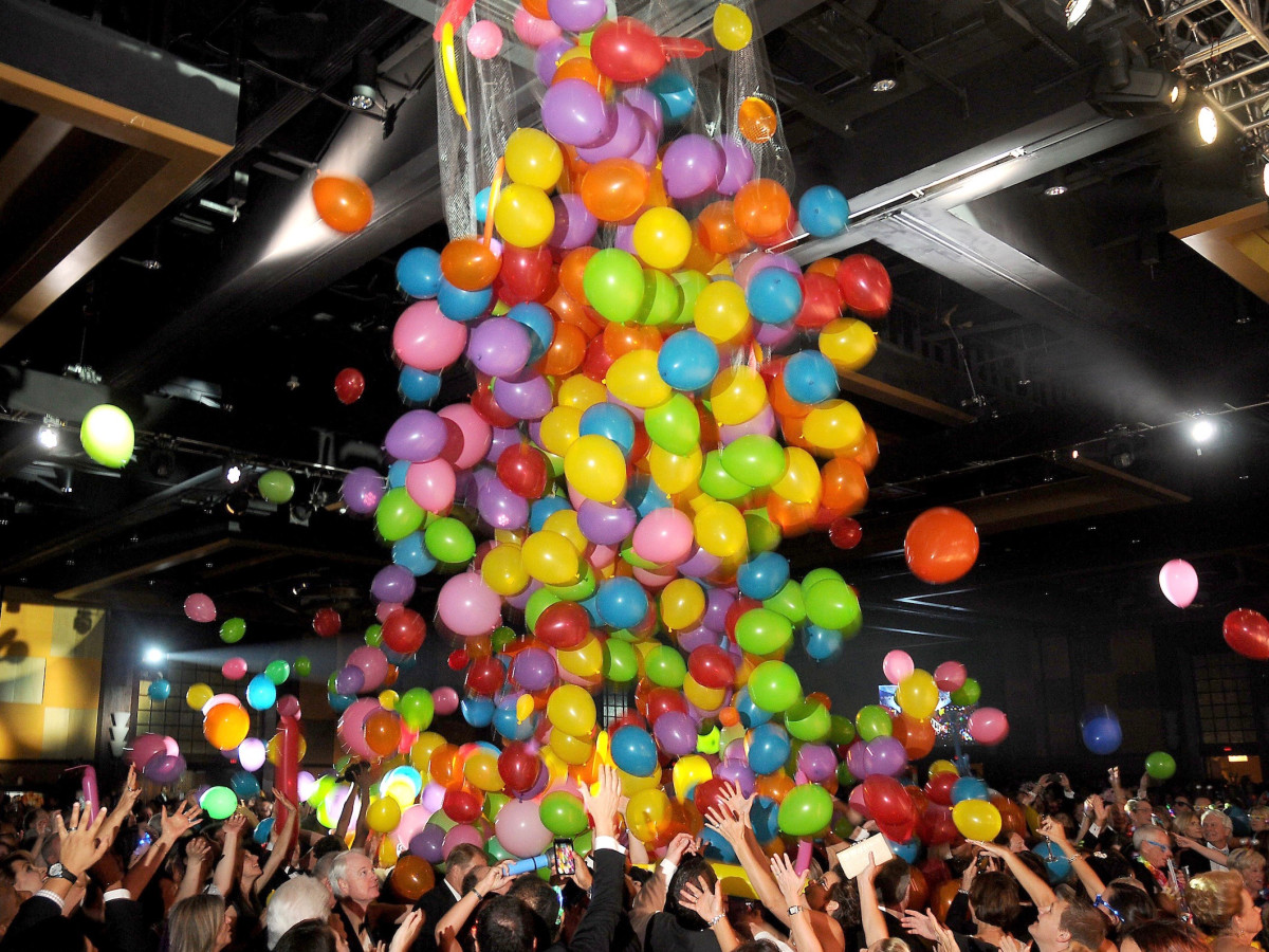 Balloon drop at Memorial Hermann Gala