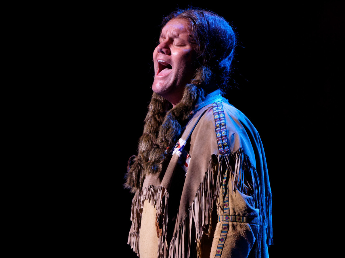 David Phelps in Lyric Stage's Quanah