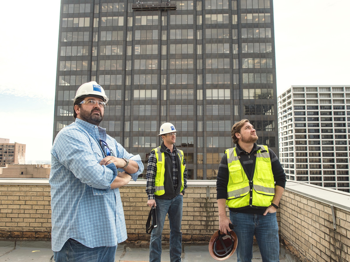 Bryan Caswell Oxbow 7 construction rooftop bar