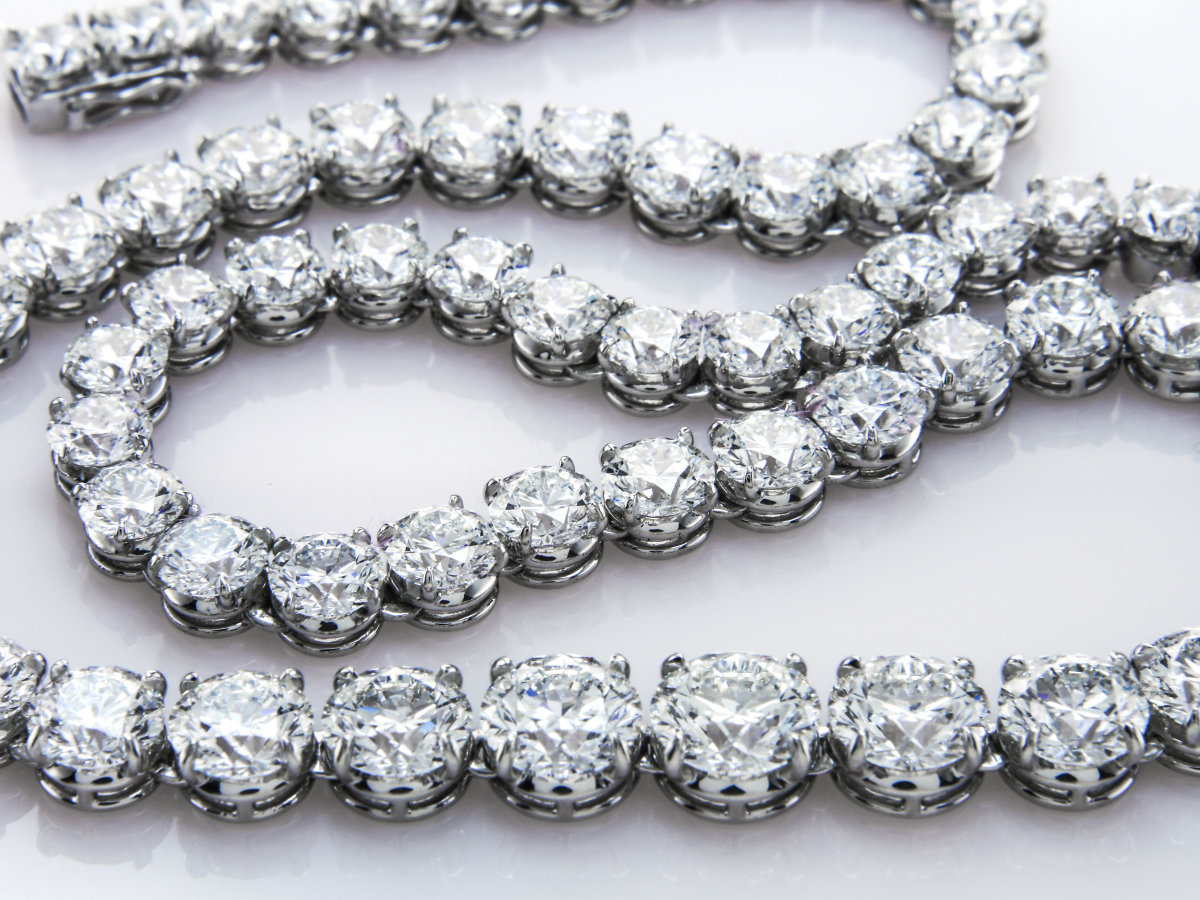 Diamond bracelet or necklace