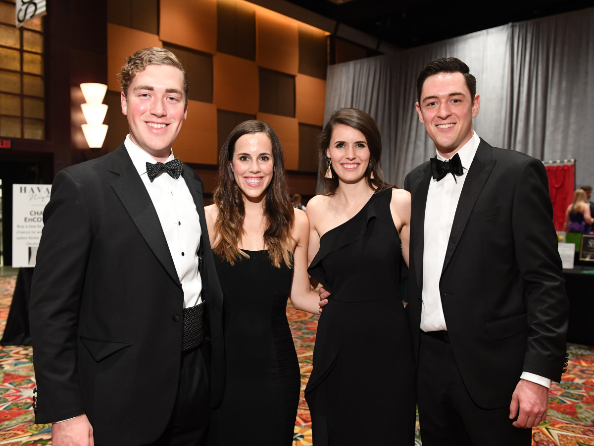 Houston, JDRF Promise Ball Havana Nights, May 2017, Ben Halliday, Caroline Stokes, Haley McCann, Chris Leyendecker
