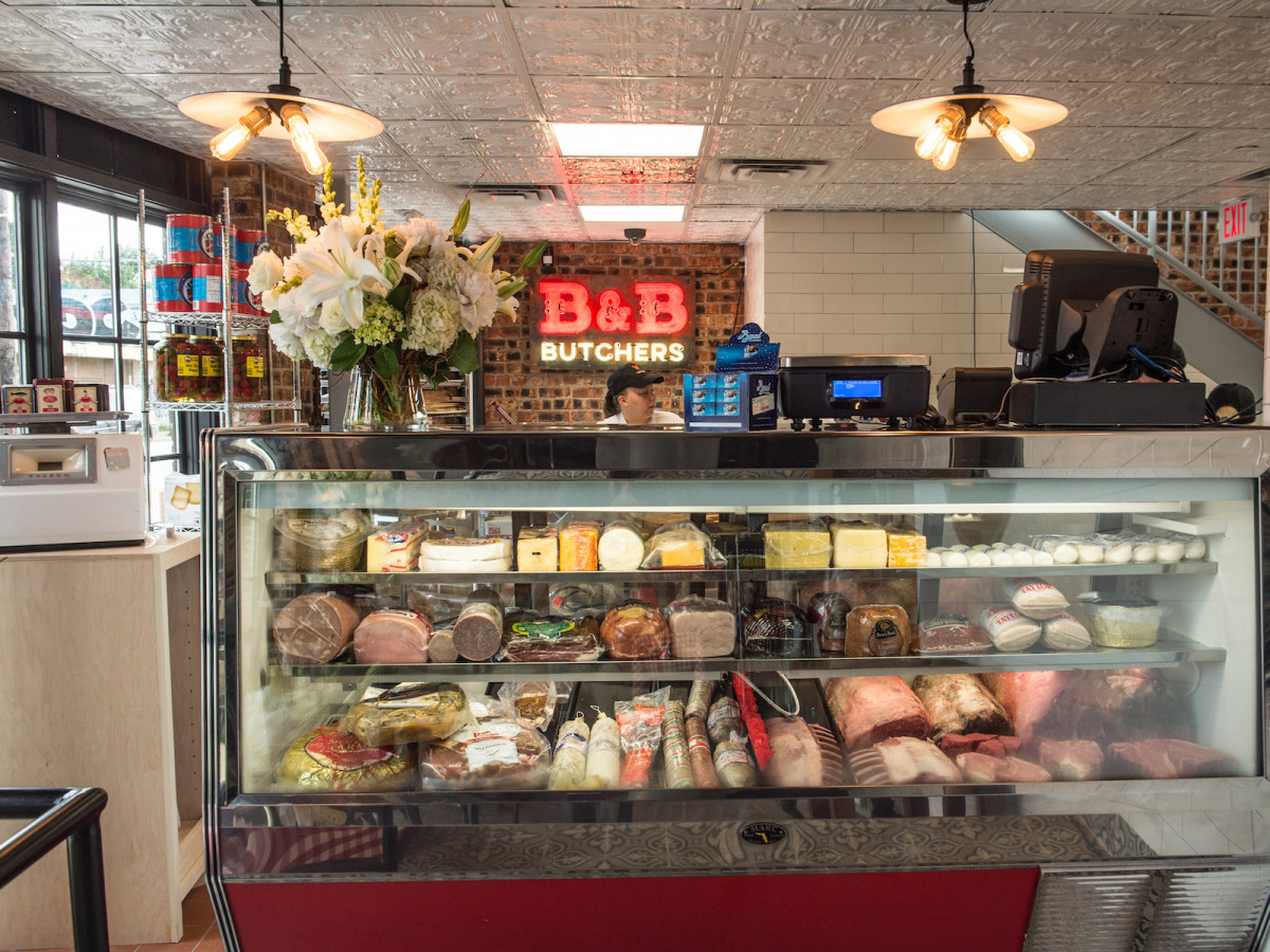 B&B Butchers deli shop interior