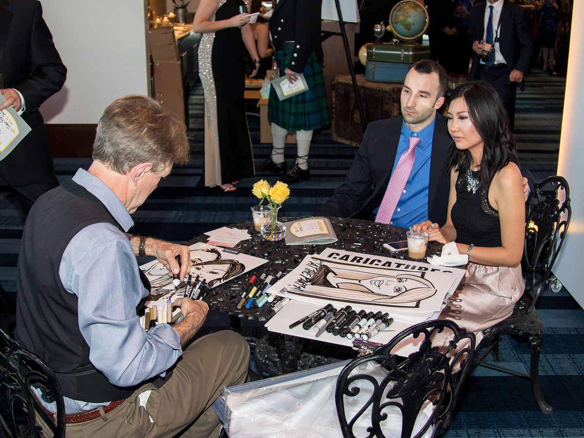 Caricaturist at Yellow Rose Gala 2017