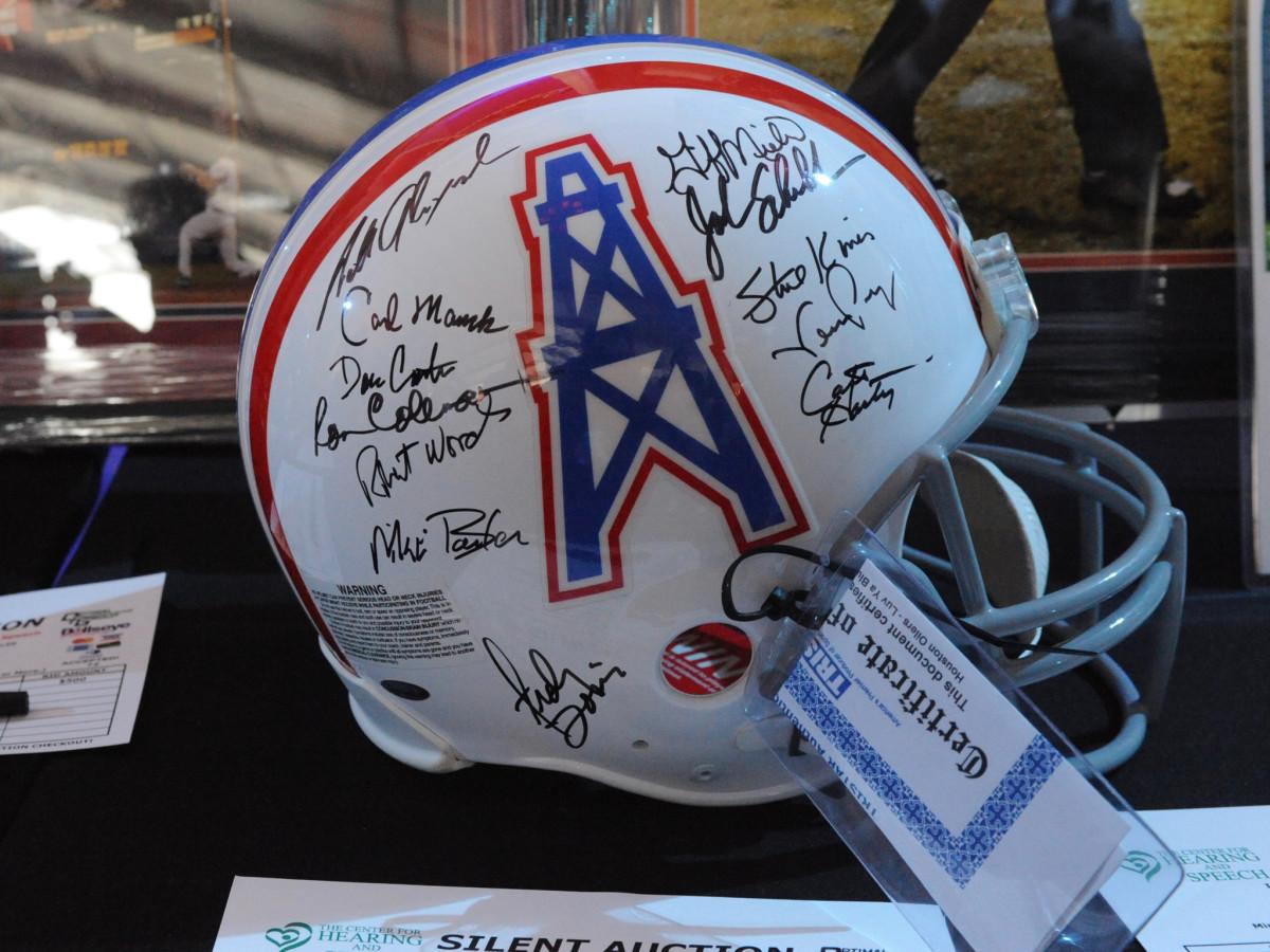 Players Tailgate Oilers Helmet