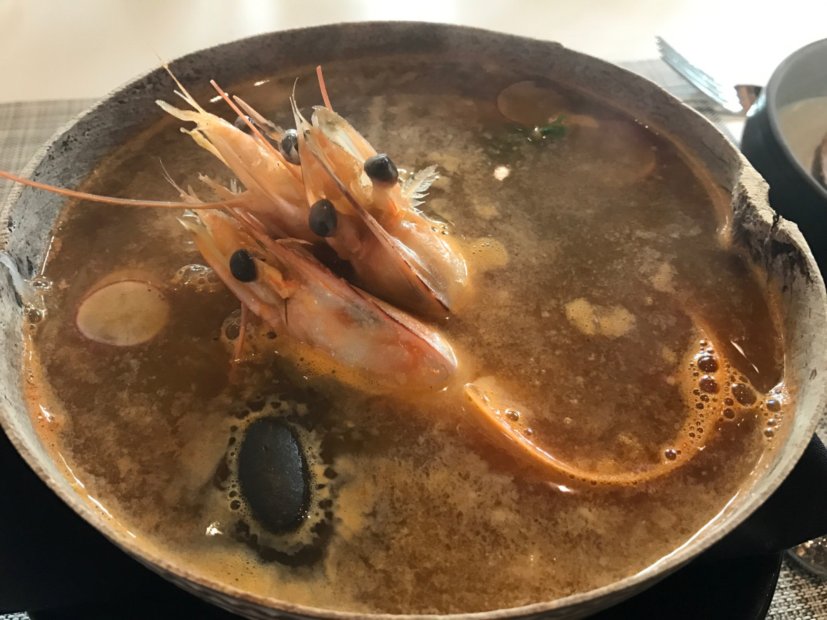 Xochi shrimp soup