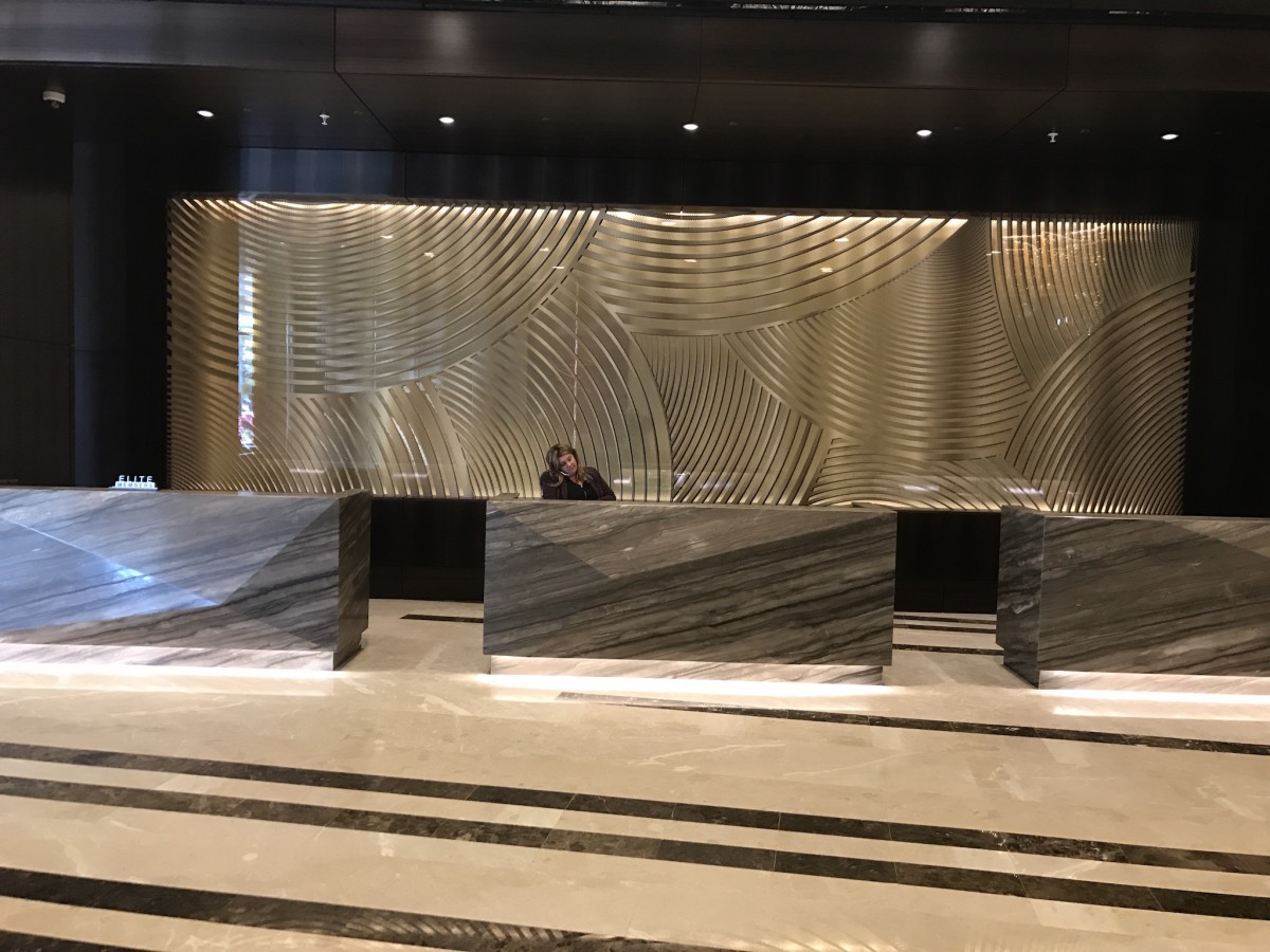 Marriott Marquis check in desk