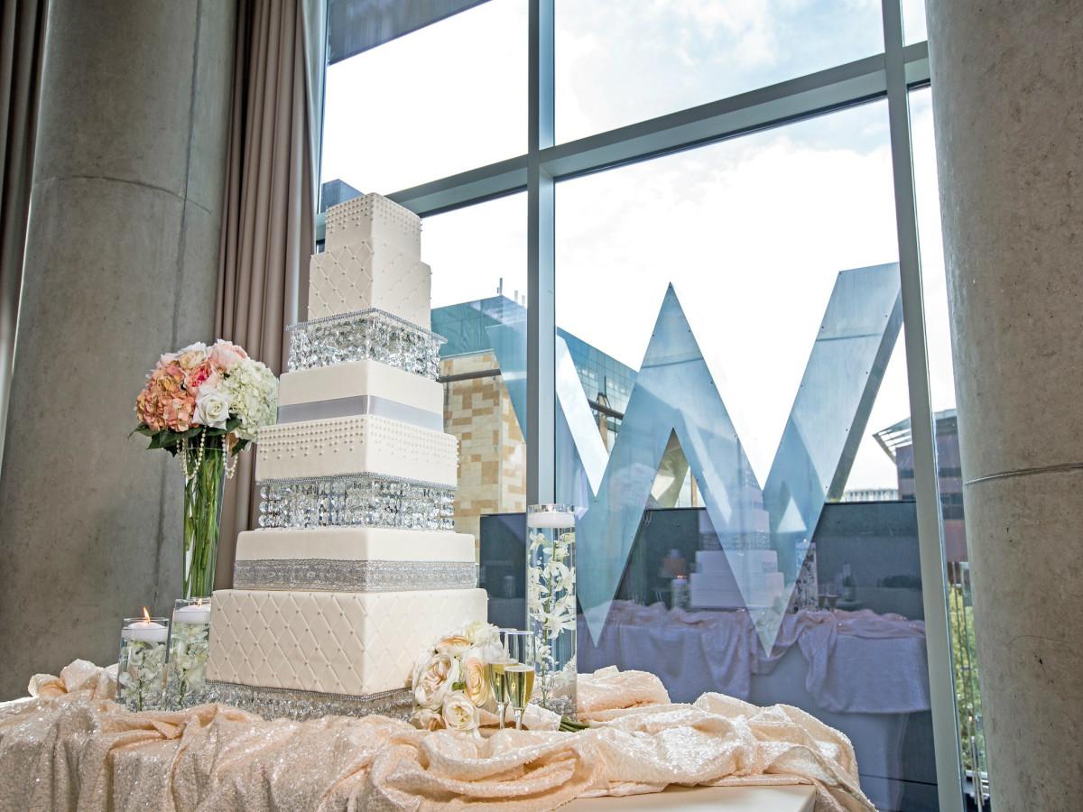 Wedding cake at W Austin