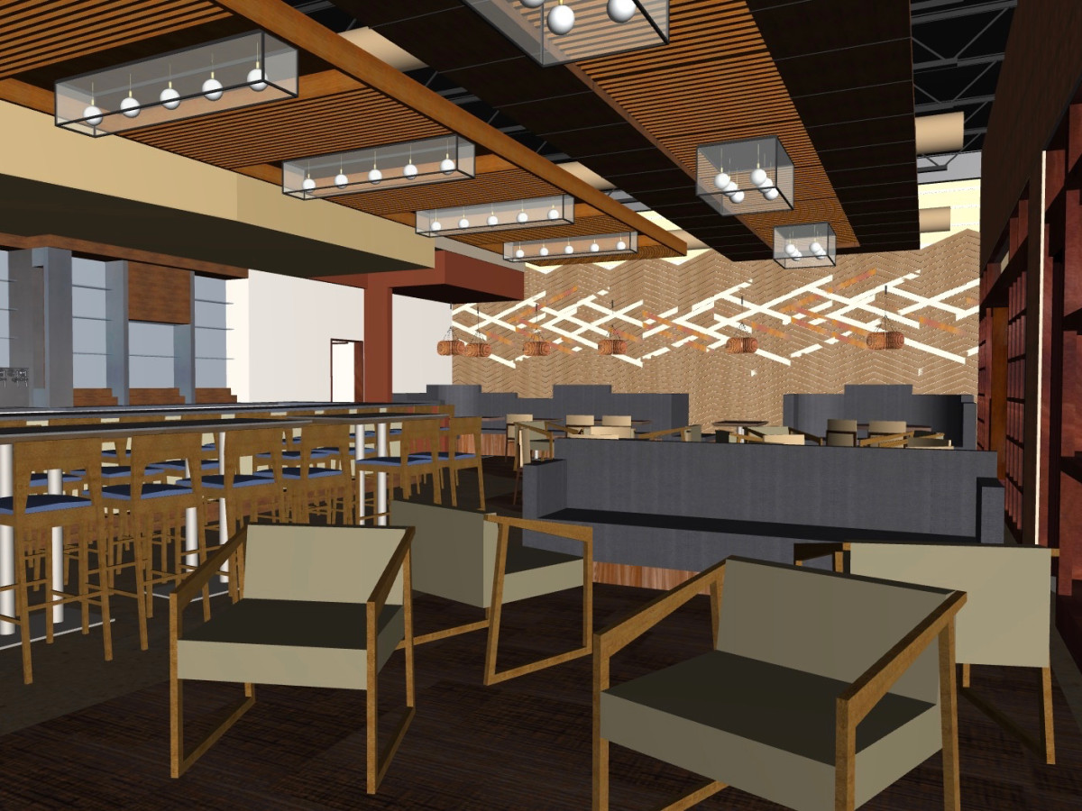 Hungry's upstairs rendering