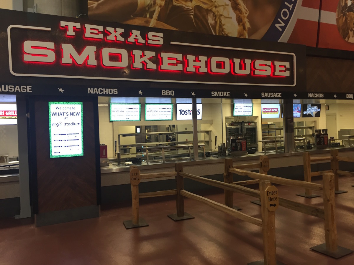 NRG Stadium barbecue stand
