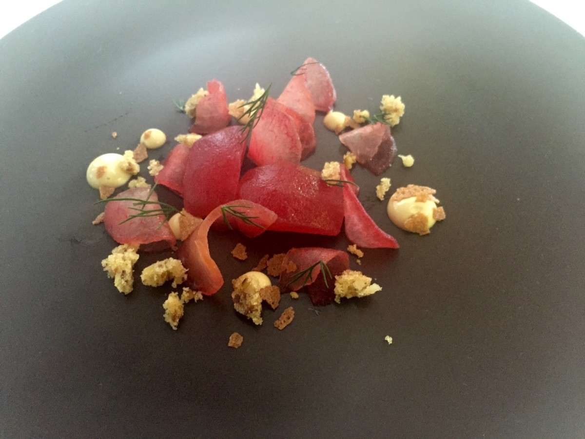 Lunch pop-up pickled plums