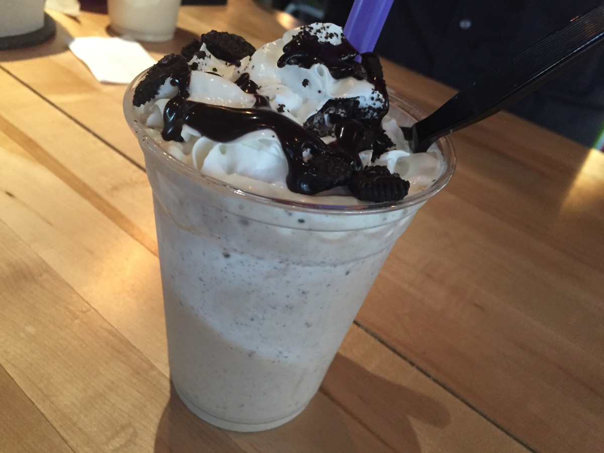 Hopdoddy chocolate oreo milkshake