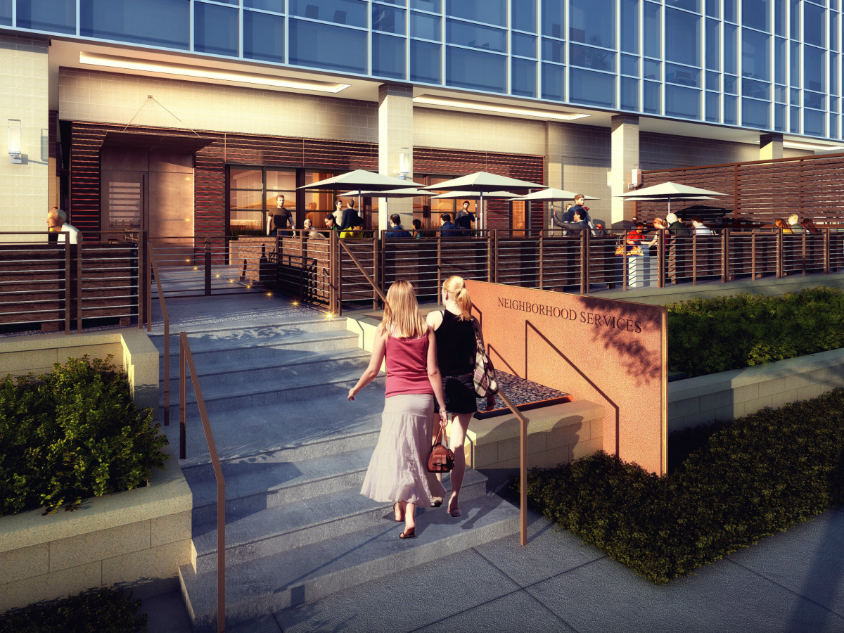 Omni Frisco hotel NHS Neighborhood Services rendering