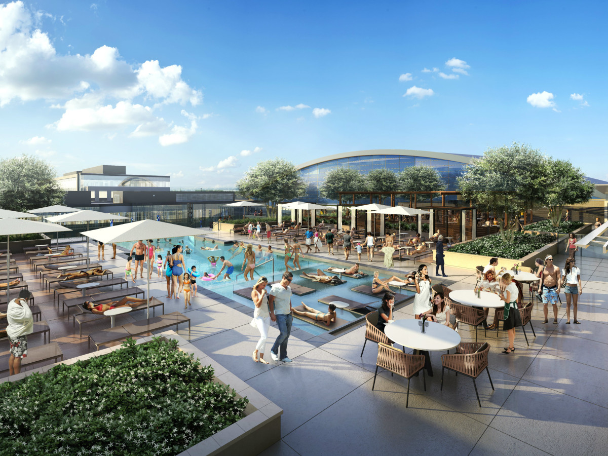 Omni Frisco hotel pool deck rendering