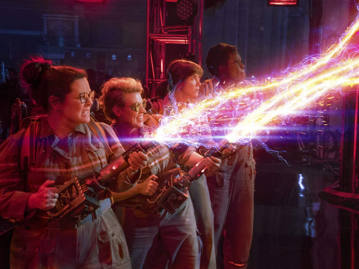 Melissa McCarthy, Kate McKinnon, Kristen Wiig, and Leslie Jones in Ghostbusters