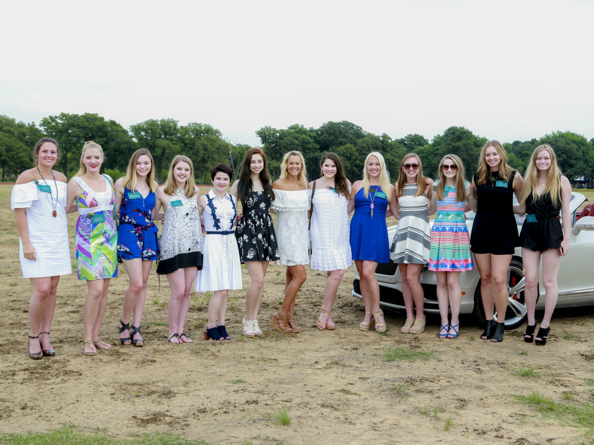 2017 Debutantes Olivia Burnett, Layne Anderson, Ashlyn Matthews, Lilli Boren, Bailey Turfitt, Madeline Hendrick, Eva Blanton, Natalie Monger, Heather Hall, Gabrielle Crank, Juliana McIlveene, Caroline Downing, and Grace Beal