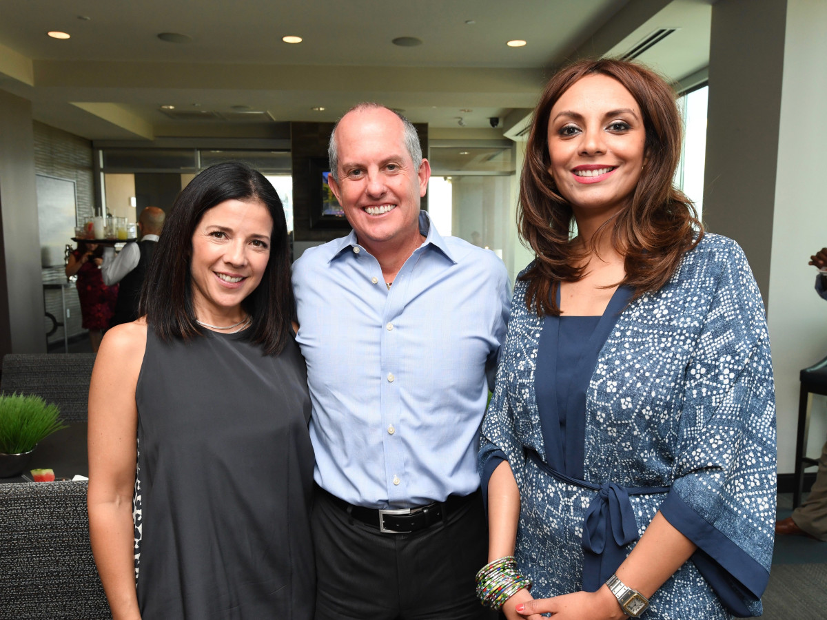 Aracelie Graham, Luis Graham, Monica Gonzales Soto at Sabores chef party