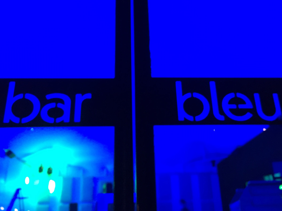 Houston, First Look at Bar Bleu, June 2016, front doors
