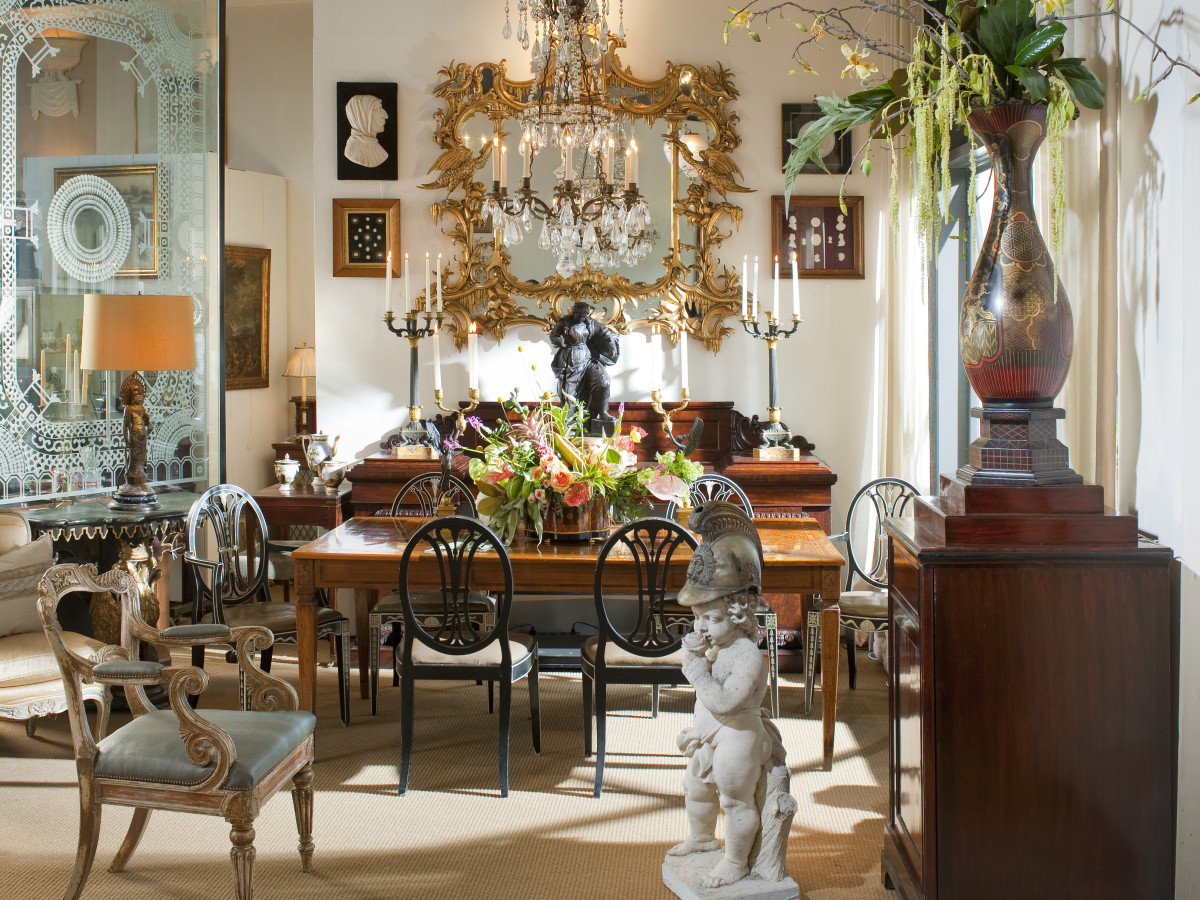 Nick Brock Antiques interior