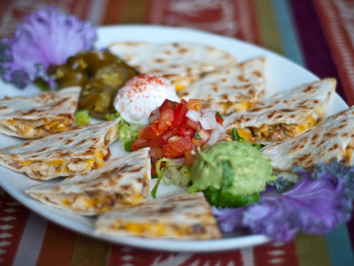 Jorge's Tex-Mex quesadillas