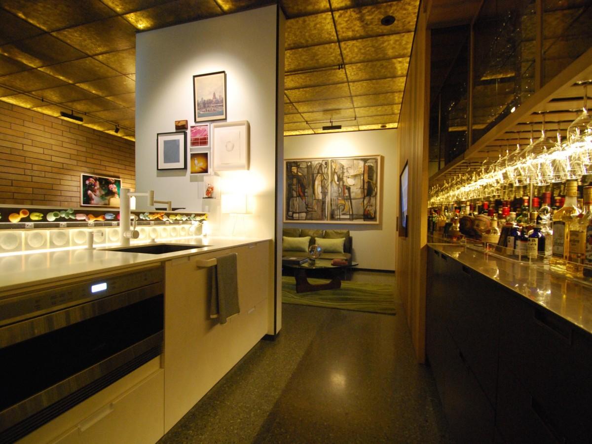 Shelby basement bar