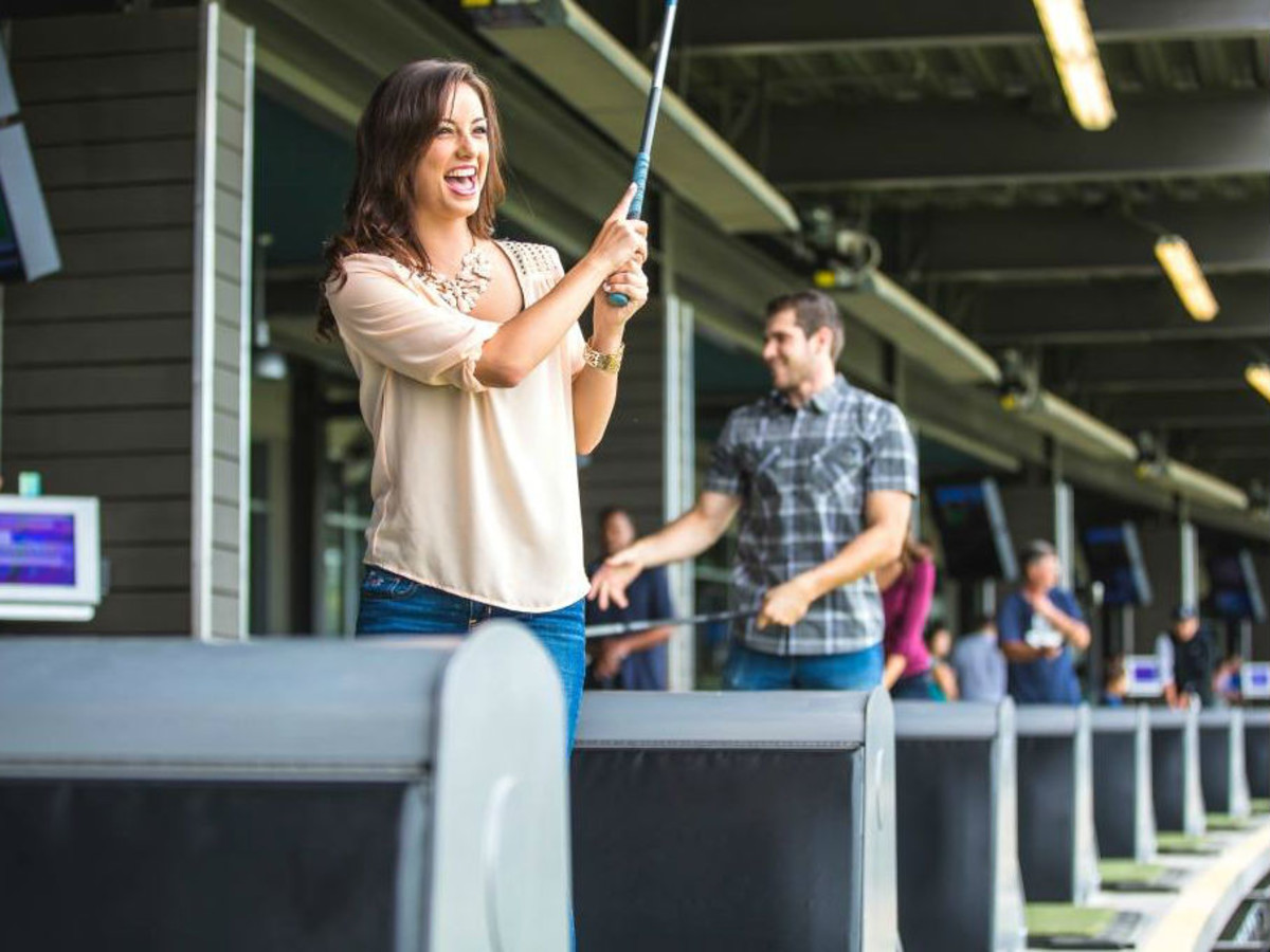 TopGolf smiling woman