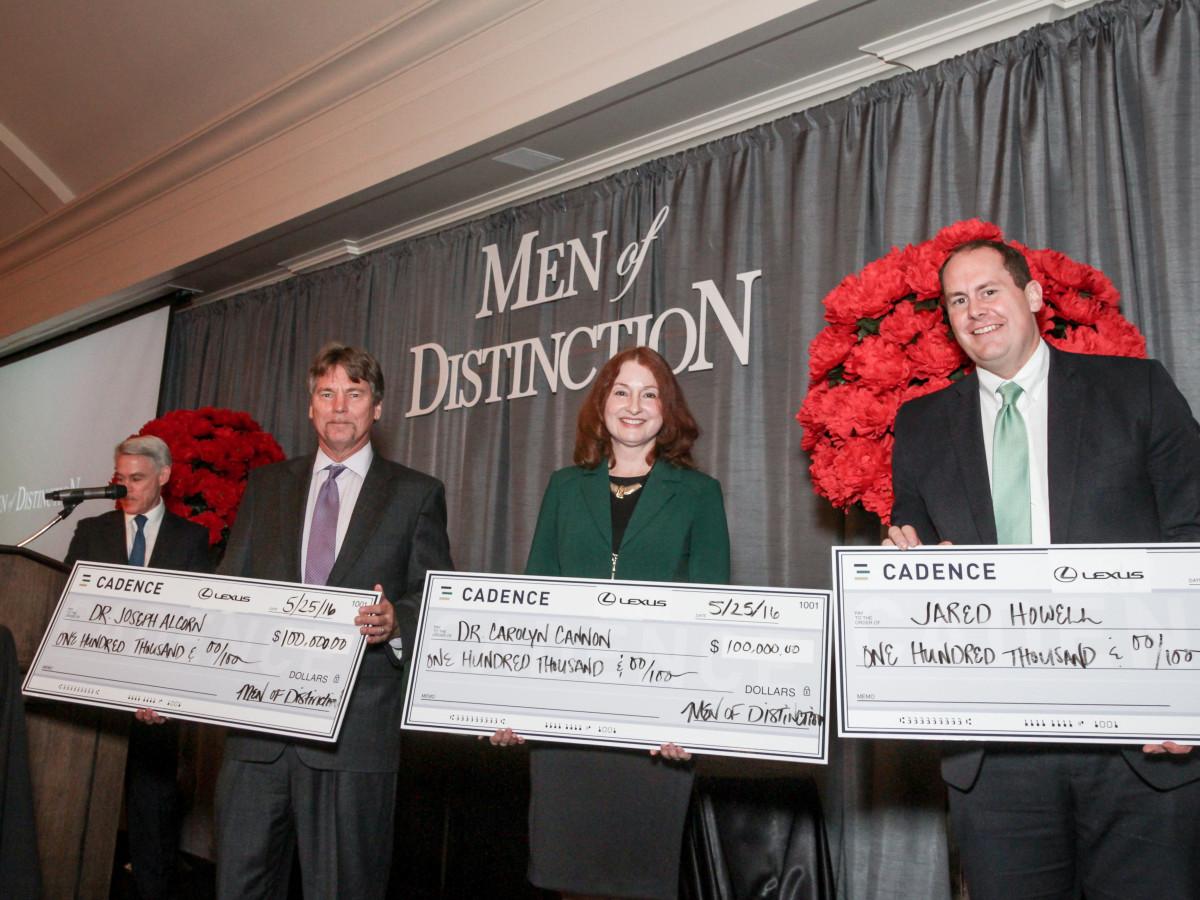 Men of Distinction, Dr. Joseph Alcorn, Dr. Carolyn Cannon, Dr. Jared Howell