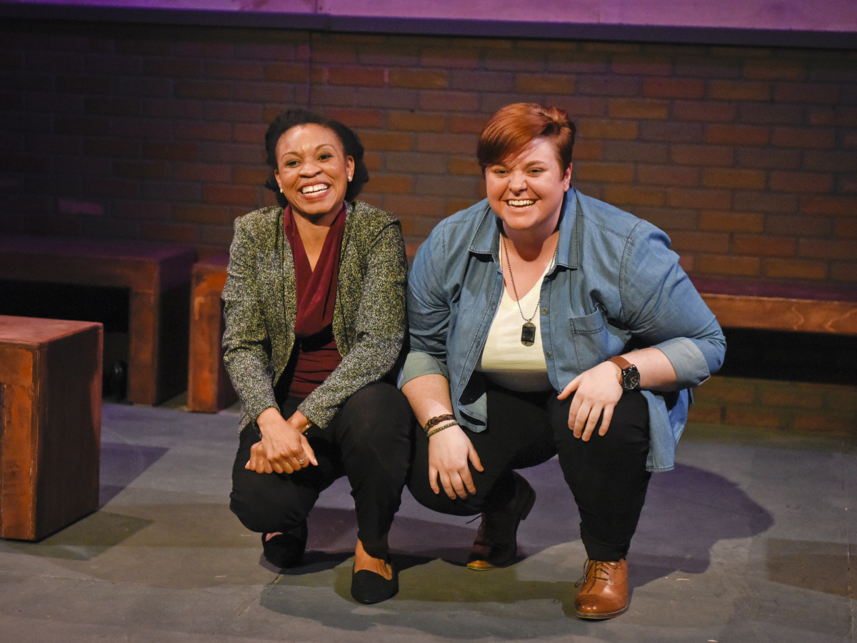 Kenneisha Thompson and Kelsey Leigh Ervi in Bright Half Life