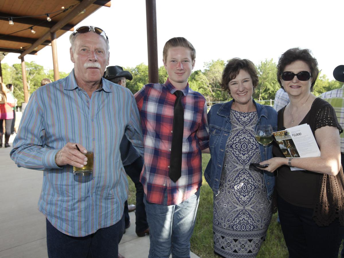 Bob Hutchison, Cooper Browning, Robin Browning, Cheryl Hutchison
