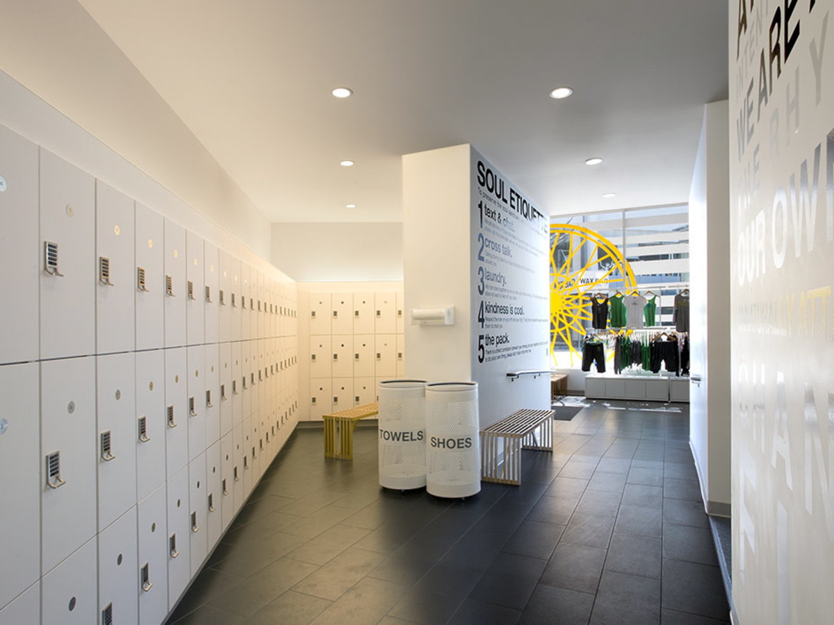 SoulCycle locker room
