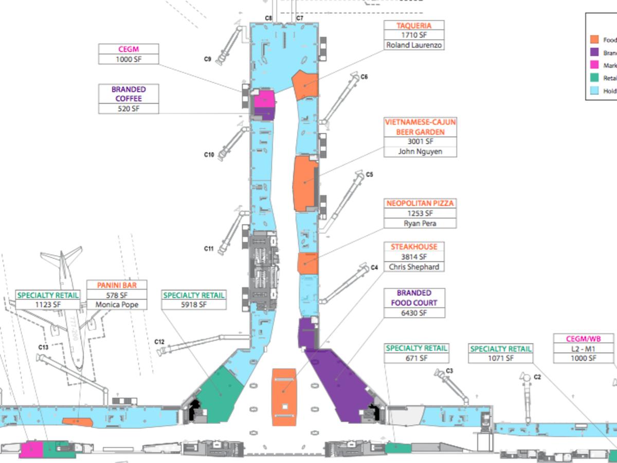 New restaurants at new Terminal C North concourse at Bush Intecontinental