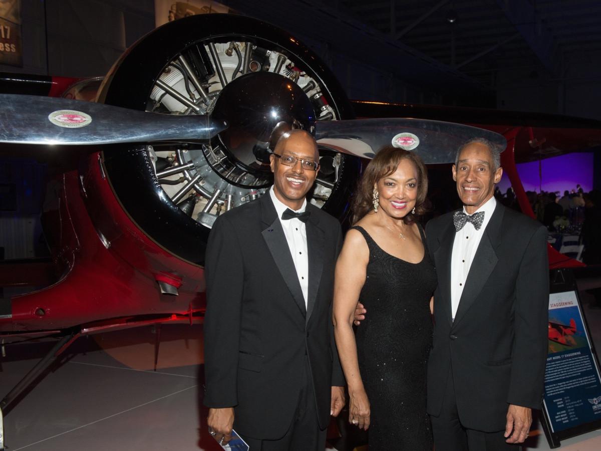 Lone Star Flight Museum gala 5/16 George Hanks, Angela Joubert, Cedric Joubert