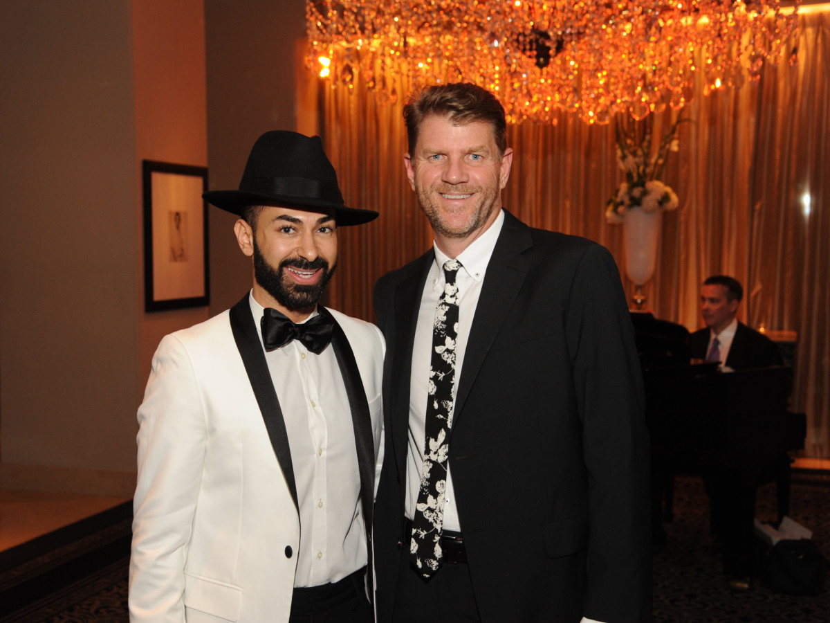 Houston Arts Alliance dinner 5/16, Fady Armanious, Bill Baldwin