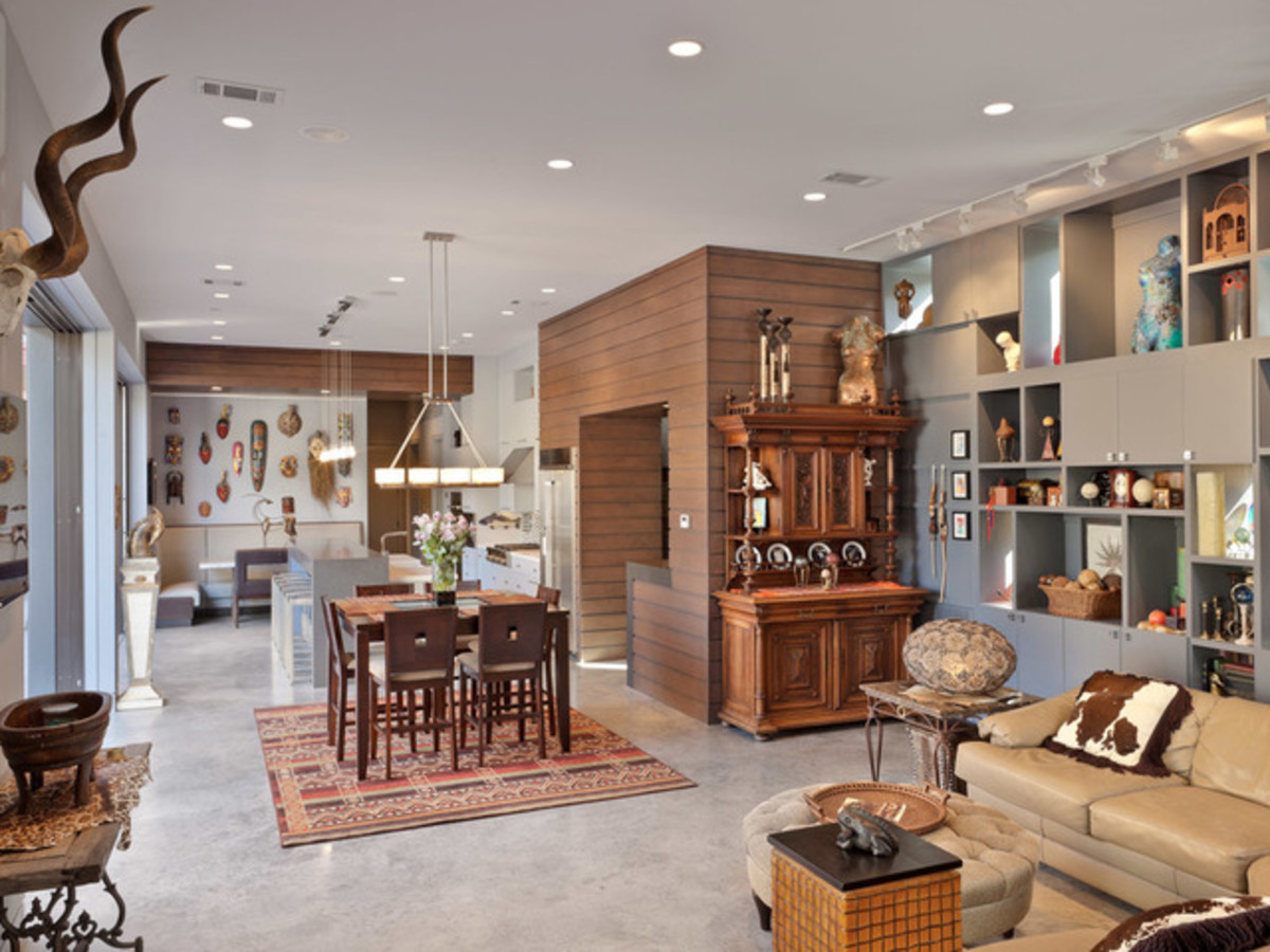 Houzz Houston Heights modern home tour living room