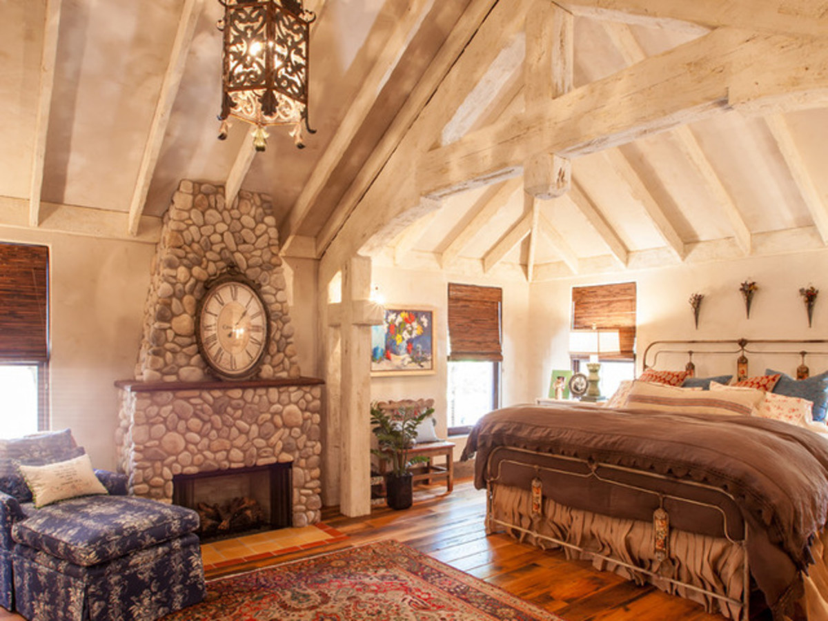 Dallas University Park home Houzz tour rustic bedroom