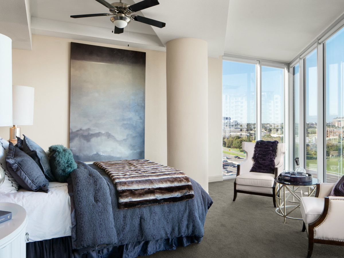 Bedroom at AMLI Design District in Dallas