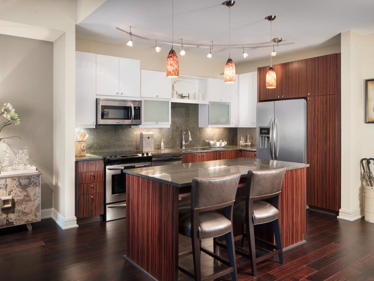 Kitchen at AMLI Design District in Dallas