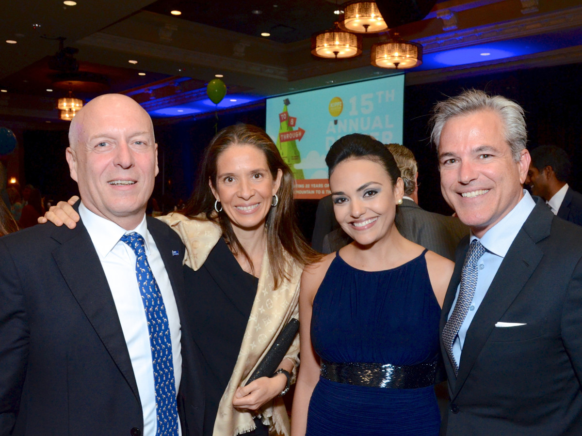 KIPP Houston dinner 4/16,  Manolo Sanchez, Daniela Sanchez, Stacy Graub, Steven Graub