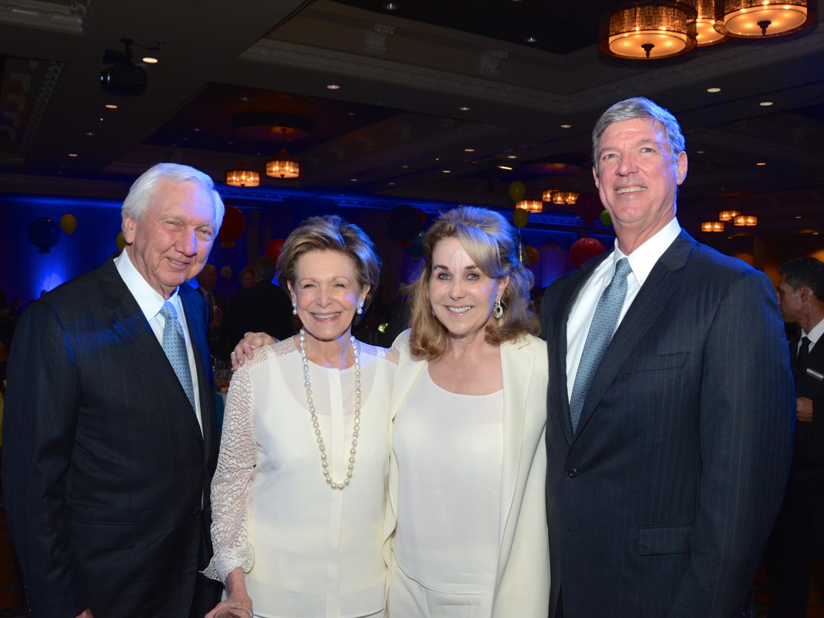 KIPP Houston dinner 4/16,  Larry Johnson, Barbara Hurwitz, Sue Smith, Craig Brown